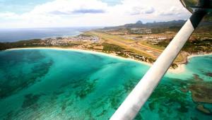 aerial sandy beach